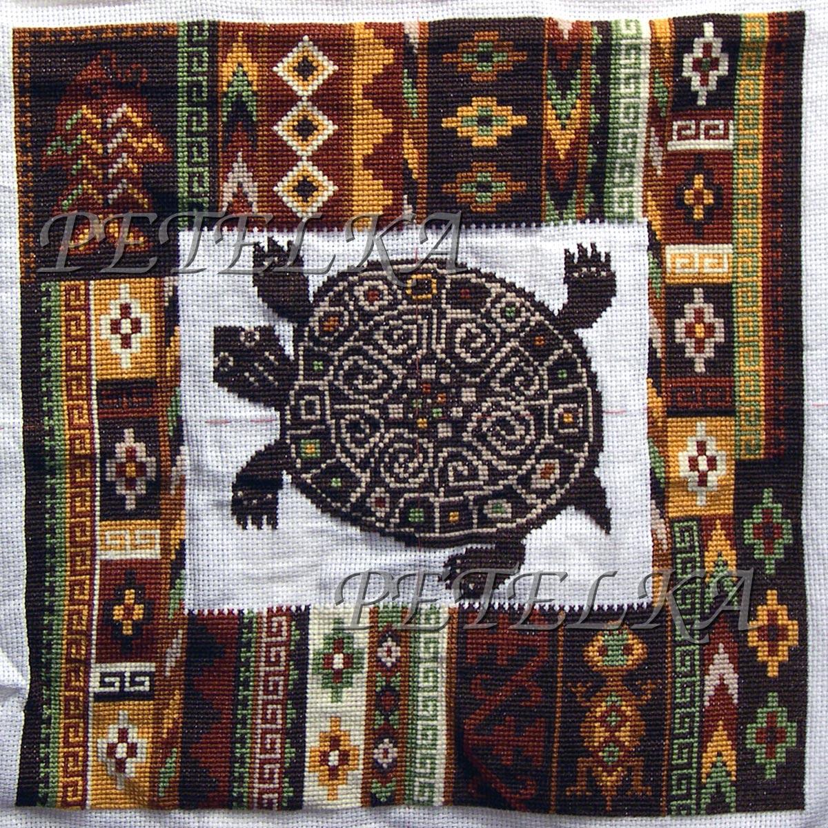 Скачать схему вышивки подушки риолис
